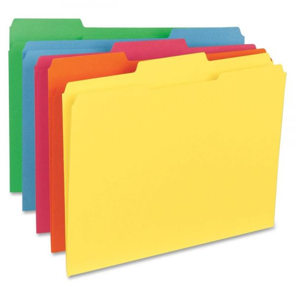 Sparco Top Tab Colored File Folders