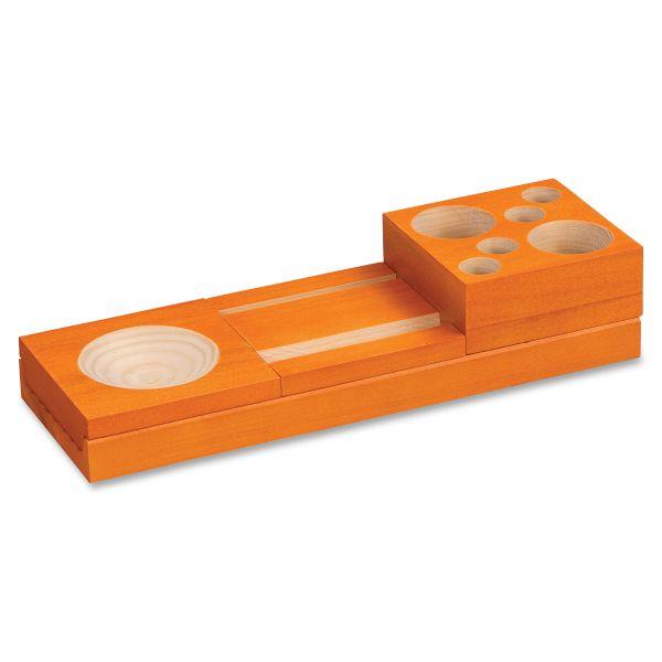 Safco Orange Splash Wood Desk Set