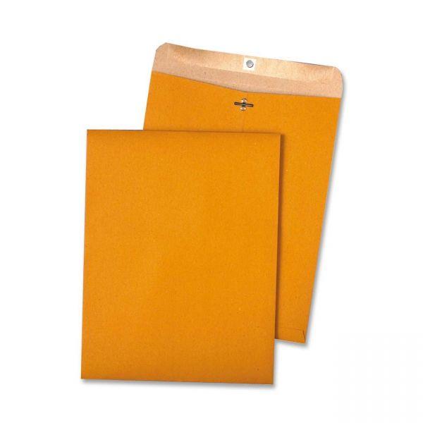 Quality Park 100% Recycled Brown Kraft Clasp Envelope, 9 x 12, Brown Kraft, 100/Box