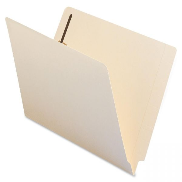 Smead 100% Recycled End Tab File Folders With Fasteners