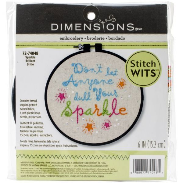 Stitch Wits Sparkle Mini Stamped Embroidery Kit