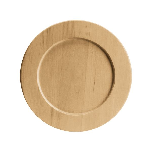 Basswood Round Plate