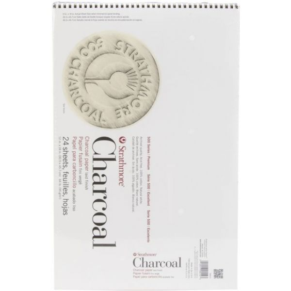"Strathmore Charcoal Spiral Paper Pad 12""X18"""