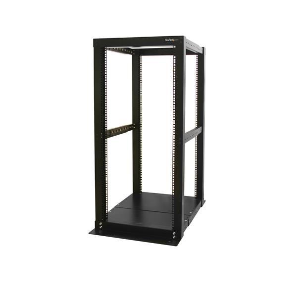 StarTech.com 25U Adjustable Depth 4 Post Open Frame Server Rack Cabinet