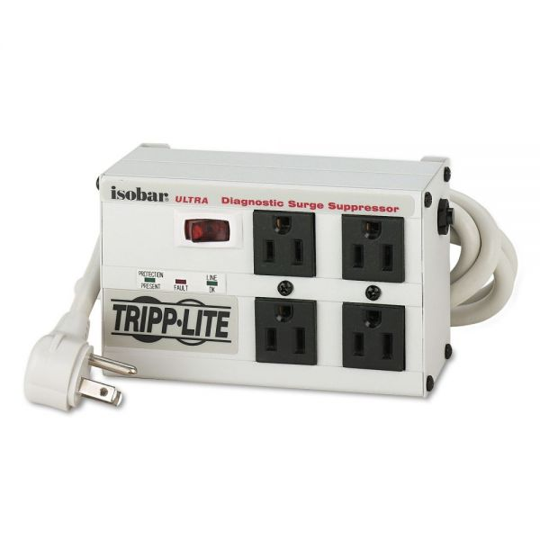 Tripp Lite Isobar Premium Surge Suppressor, 4 Outlets, 6ft Cord