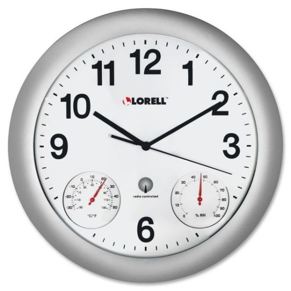 Lorell Temperature/Humidity Wall Clock