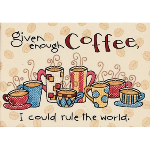 Dimensions Enough Coffee Mini Stamped Cross Stitch Kit