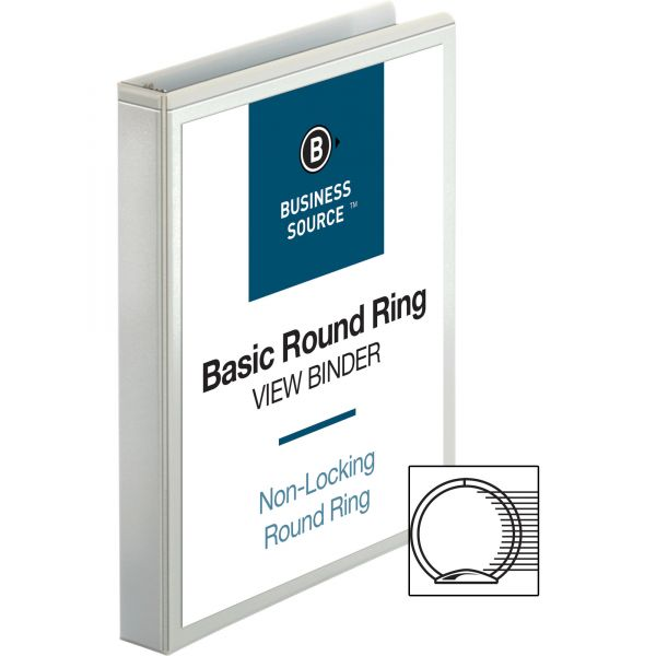"""Business Source 1"""" 3-Ring View Binder"""