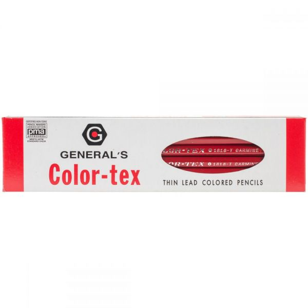 Color-Tex Red Color Pencils With Eraser