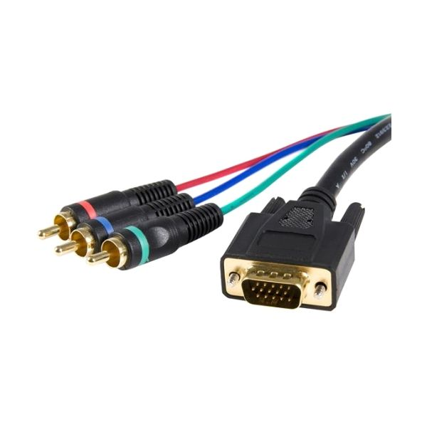 StarTech.com Cable adapter - RCA breakout - HD15 (m) - component (f) - 3 ft