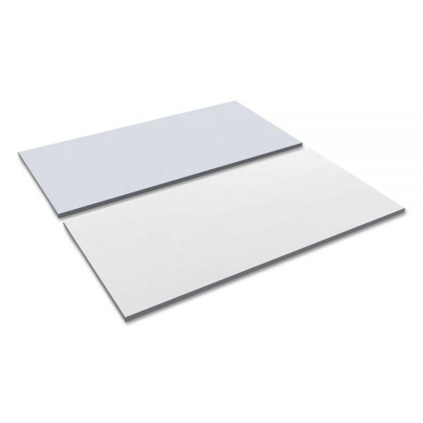 Alera Reversible Laminate Table Top, Rectangular, 59 1/2w x 29 1/2d, White/Gray