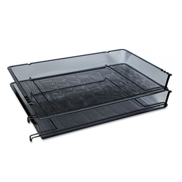 Universal Mesh Stackable Side Load Tray, Legal, Black