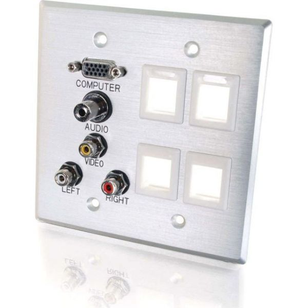 C2G Audio/Video/Keystone Faceplate