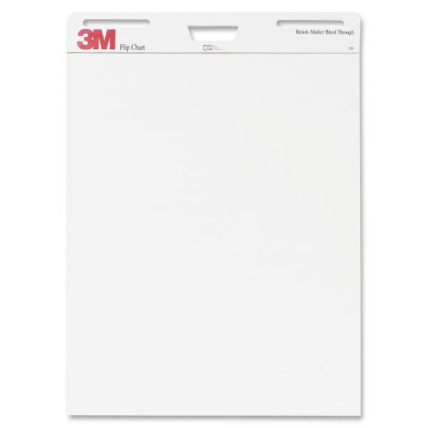 3M Professional Flip Chart Pad, Unruled, 25 x 30, White, 40 Sheets, 2/Carton