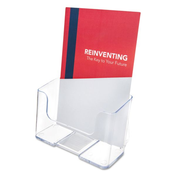 deflect-o One-Pocket Rigid Plastic Brochure Display Rack, Clear