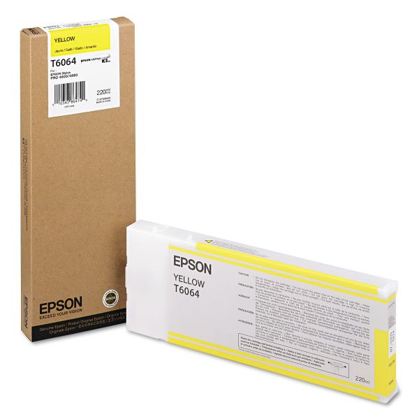 Epson T606400 (60) Ink, Yellow