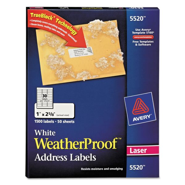 Avery 5520 WeatherProof Address Labels