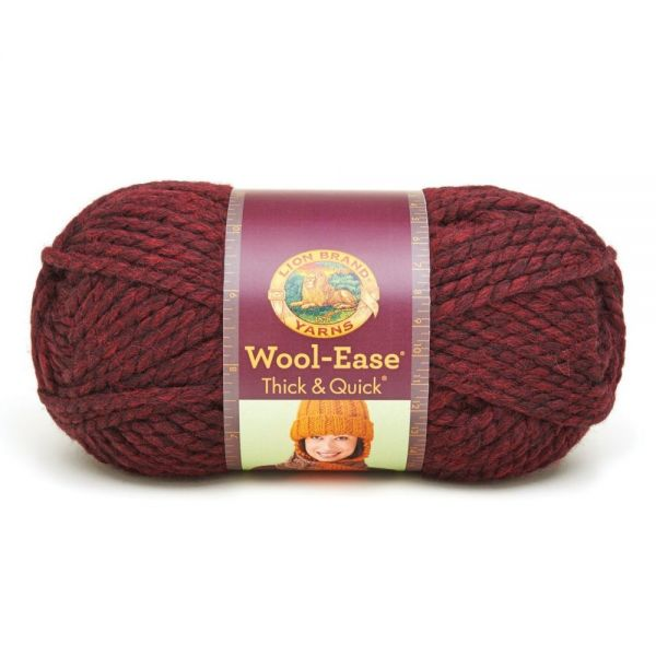 Lion Brand Wool-Ease Thick & Quick Yarn - Claret