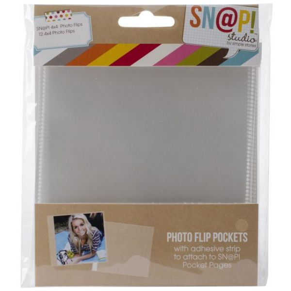 "Sn@p! Photo Flips For 6""X8"" Binders 12/Pkg"