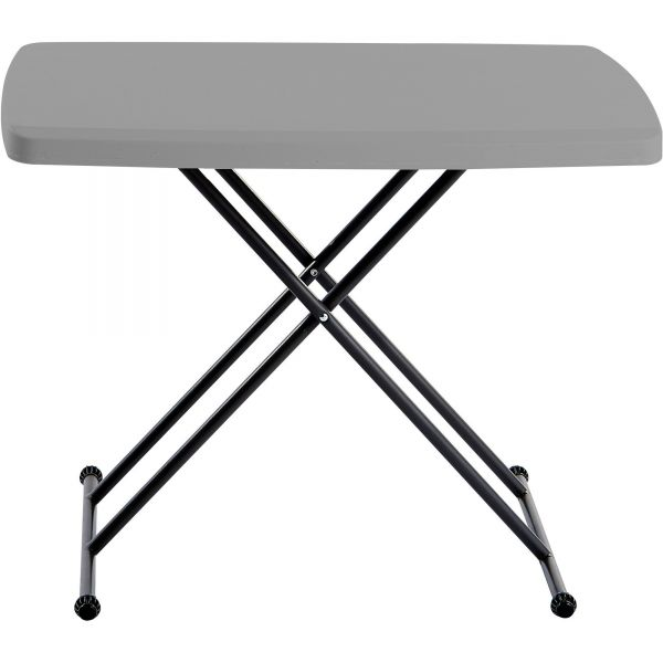 Iceberg IndestrucTables Too 1200 Series Resin Personal Folding Table, 30 x 20, Charcoal