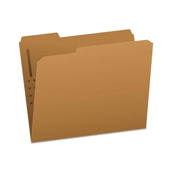 Pendaflex Kraft Fastener Folders, 1 Fastener, 1/3 Cut Tabs, Letter, 50/Box