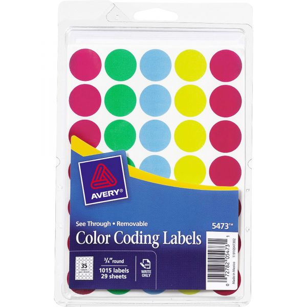 Avery See Through Color Coding Labels