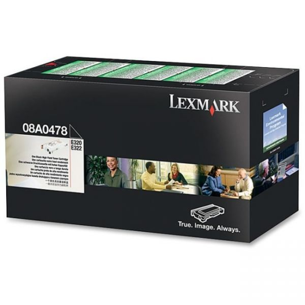 Lexmark 08A0478 Black High Yield Return Program Toner Cartridge