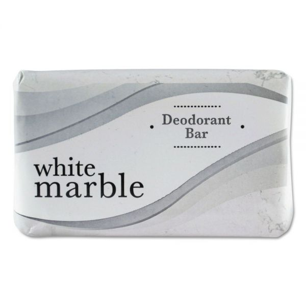 White Marble Travel Size Deodorant Bar Soap