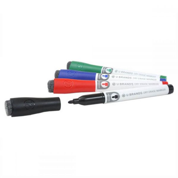 Dry Erase Medium Point Markers 4/Pkg