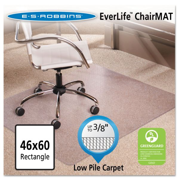 ES Robbins 46x60 Rectangle Chair Mat, Multi-Task Series AnchorBar for Carpet up to 3/8""