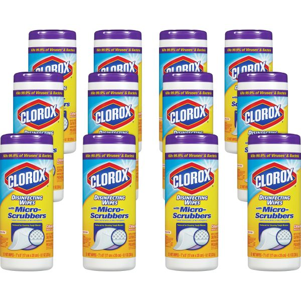 Clorox Disinfecting Wipes with Micro-Scrubbers