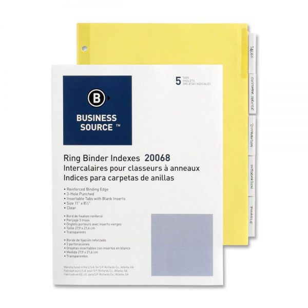 Business Source Insertable Tab Index Dividers