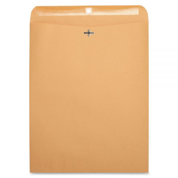 "Business Source Gummed 12"" x 15 1/2"" Clasp Envelopes"