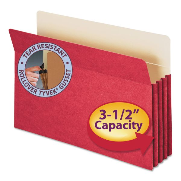 Smead Red Colored Expanding File Pocket