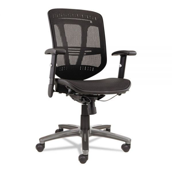 Alera Eon Series Multifunction Mid-Back Suspension Mesh Office Chair