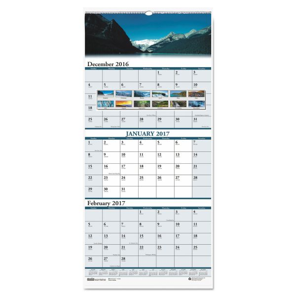House of Doolittle Earthscapes 3-Month Wall Calendar