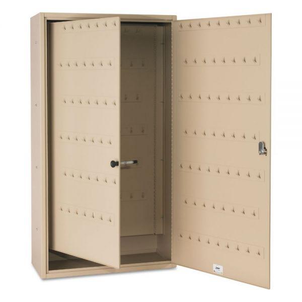 SteelMaster FOB Key Cabinet, 130-Key, Steel, Sand