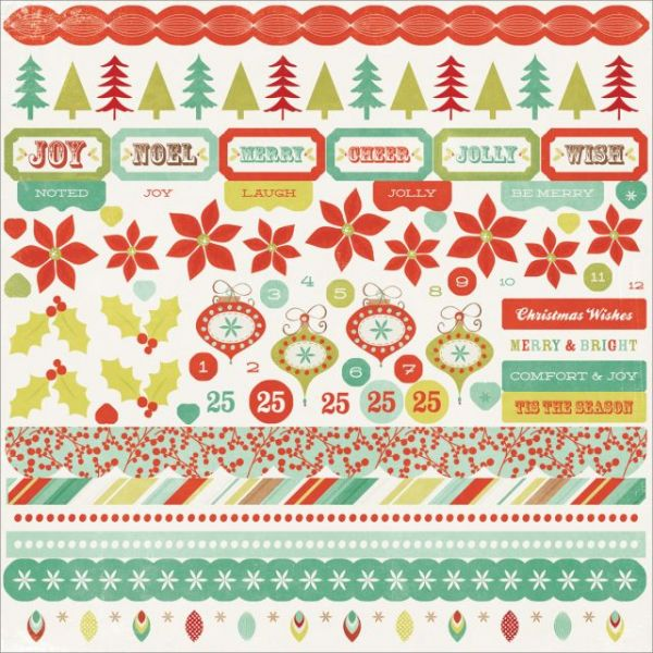 "Mistletoe Cardstock Stickers 12""X12"""