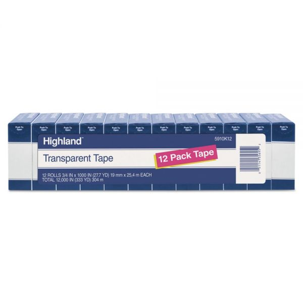 "Highland 3/4"" Transparent Tape Refills"