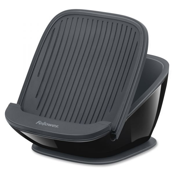 Fellowes I-Spire Series Tablet SuctionStand, 5 x 5 3/4 x 3 3/8, Black/Gray