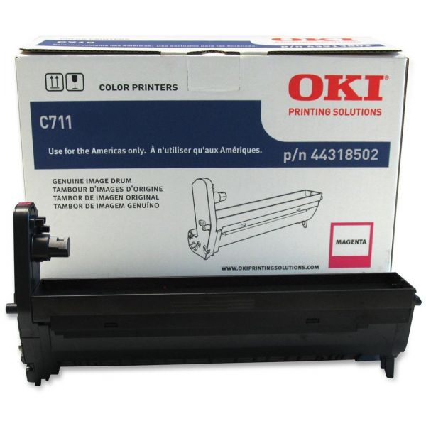 Oki 44318502 Drum, 20,000 Page-Yield, Magenta