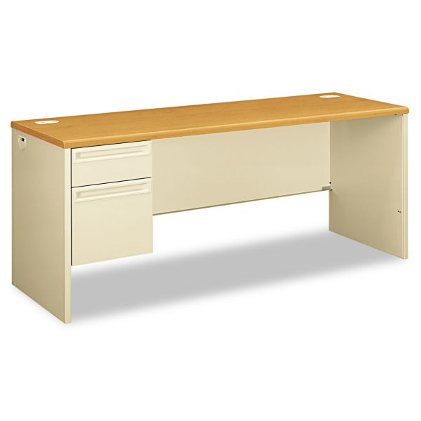 "HON 38000 Series Left Pedestal Credenza | 1 Box / 1 File Drawer | 72""W"