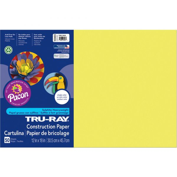 Tru-Ray Heavyweight Yellow Construction Paper