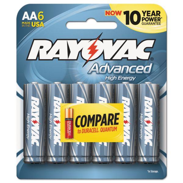 Rayovac Advanced High Energy AA Batteries