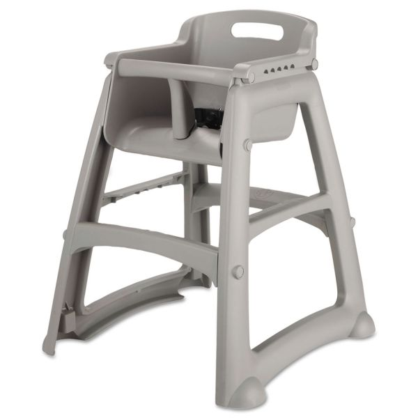 Rubbermaid Commercial Sturdy Chair Youth Seat, Plastic, 23 3/8w x 23 1/2d x 29 3/4h, Platinum
