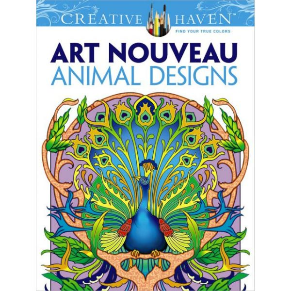 Dover Publications: Creative Haven Art Nouveau Animal Coloring Book