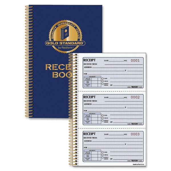 Rediform Gold Standard 2-Part Receipt Book