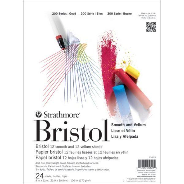 "Strathmore Bristol Smooth & Vellum Paper Pad 9""X12"""