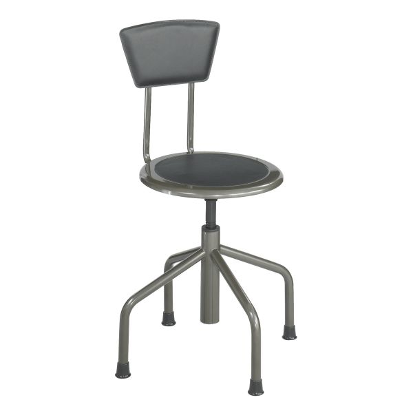 Safco Diesel Industrial Stool with Back