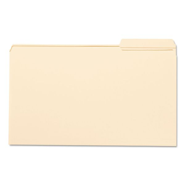 Smead File Folder, 1/3 Cut Third Position, Reinforced Top Tab, Legal, Manila, 100/Box